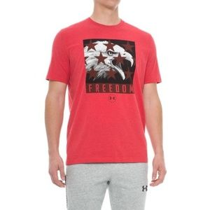 NWT UNDER ARMOUR Men's Freedom Eagle Graphic Tee